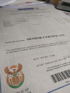 Matric Senior Certificate Umalusi