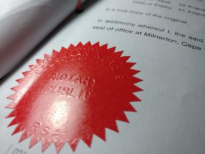 Notary Public Seal in South Africa