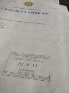 SAPS Police Clearance