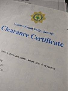 South African Police Service Police Clearance