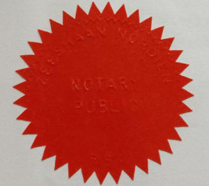 Notary public seal legalisation