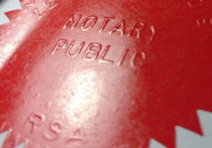Notarisation from a Notary Public