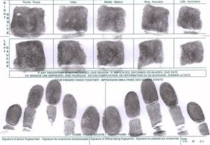 SAPS fingerprint system