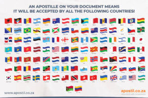 Apostille convention Hague countries flags